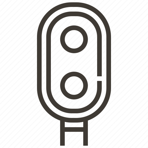 light, railroad, railway, signal, train icon