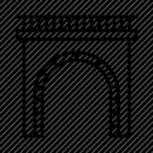 railway, train, trainstation, transport, travel, tunnel icon