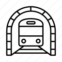 railway, train, trainstation, transport, travel, tunnel icon
