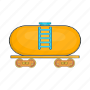 cartoon, fast, railway, sign, tanker, trailer, train icon