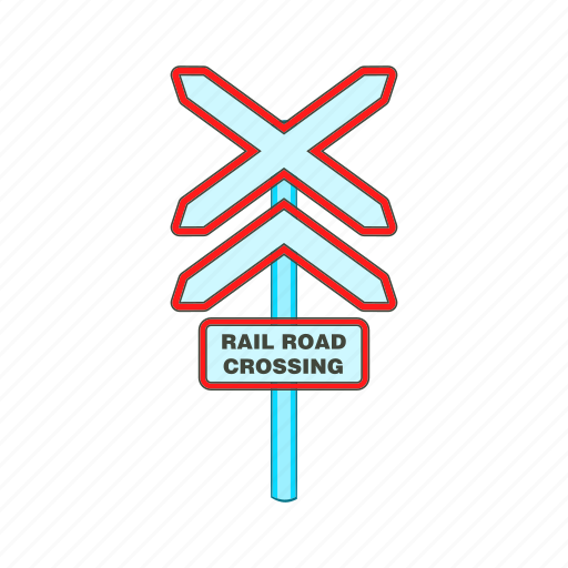 Alert, cartoon, construction, crossing, rail, road, sign icon - Download on Iconfinder