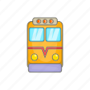 cartoon, fast, railway, sign, train, transport, travel icon