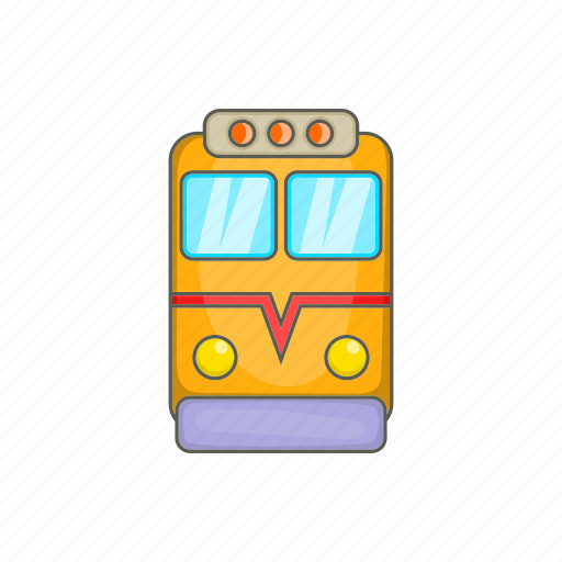 cartoon, fast, railway, sign, train, transport, travel icon