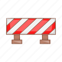 alert, ban, cartoon, construction, security, sign, travel icon
