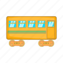 car, cartoon, fast, rail, railway, sign, transport icon