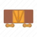 cartoon, fast, freight, railway, sign, train, transport icon