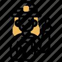 checker, collector, passenger, staff, ticket icon