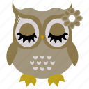 animal, bird, cute owl, funny owl, owl icon