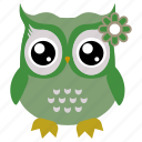 animal, bird, funny owl, owl icon