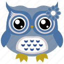 animal, bird, cute owl, owl, wild icon