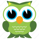 animal, bird, fowl, owl, wild icon