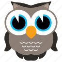 animal, animals, bird, fowl, mammal, owl icon