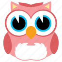 animal, animals, bird, fly, fowl, owl icon