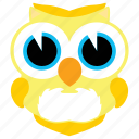 animal, animals, bird, cute, fowl, owl icon
