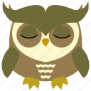 animal, bird, face, fly, fowl, owl icon