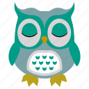 animal, bird, cute, fly, owl icon