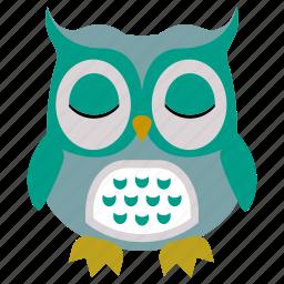 animal, bird, cute, fly, owl icon