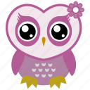 owl, bird, animal, fowl, cute