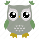 animal, bird, owl, cute, fowl