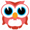 animal, bird, cute, fowl, owl, wild icon