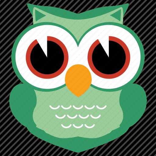 animal, bird, cute, fowl, owl, wild icon