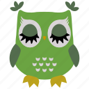 animal, bird, fly, fowl, owl, wild icon