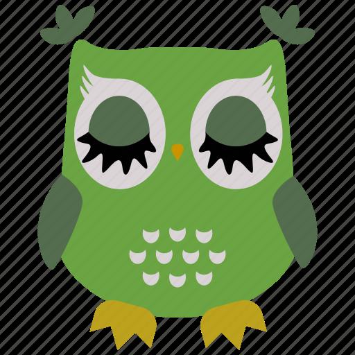 animal, bird, fly, fowl, owl, wild icon