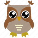 animal, bird, fowl, owl icon