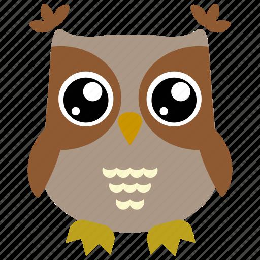 animal, bird, fowl, owl icon