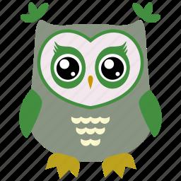 animal, bird, cute, fowl, owl icon