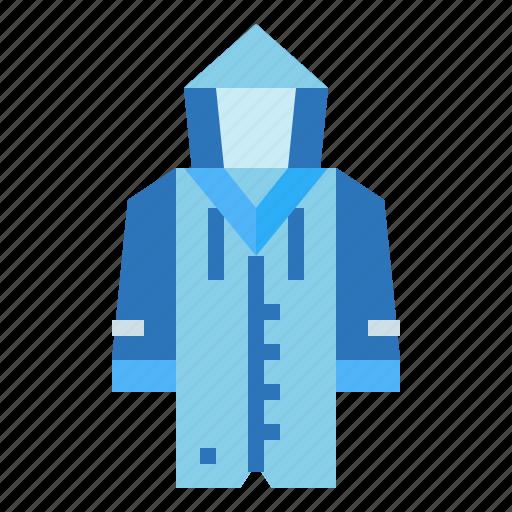 clothing, rain, raincoat, weather icon