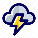cloud, rain, rainy days, storm, thunder, thunderstorm, weather icon