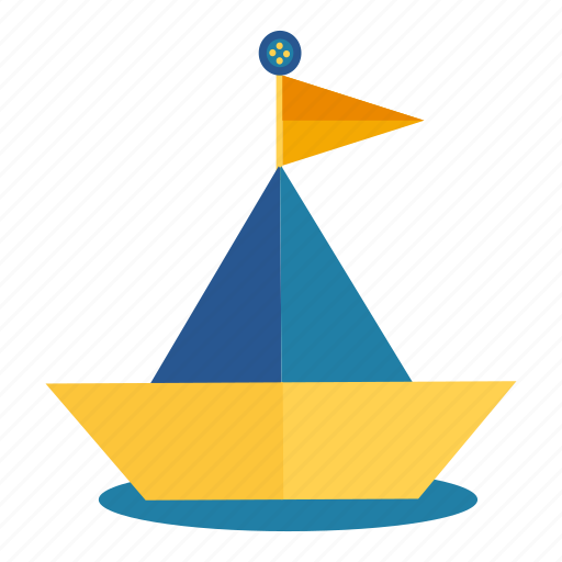 boat, origami, paper, ship, toy icon