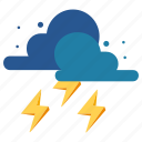 nature, rain, raining, shower, thunderstorm, weather icon