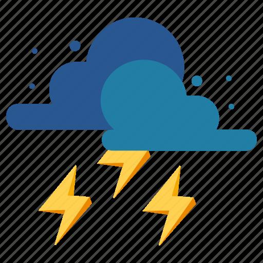 nature, rain, raining, shower, thunderstorm, weather icon
