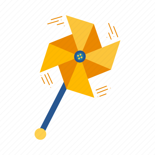 fan, origami, paper, pinwheel, windmill icon