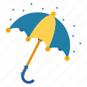 covering, opened, parasol, raining, umbrella, weather icon