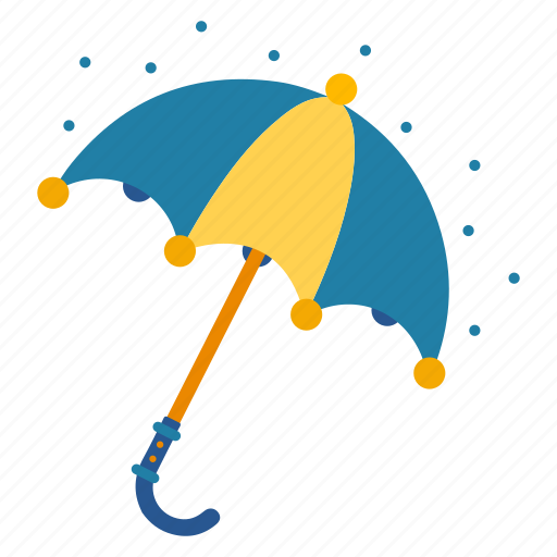 covering, opened, parasol, raining, umbrella, weather icon