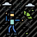 downpour, rain, water, weather icon