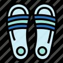 fashion, footwear, sandals, slipper icon
