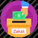 donation box, charity box, zakat, money box, fund box icon