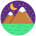 alluring night mountain, starry night, hill station, landscape, hills