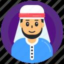 arabic boy, arabic man, muslim man, muslim boy, islamic man icon