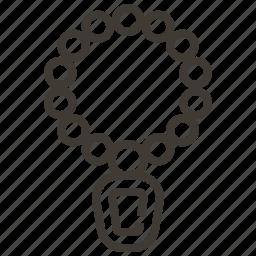 jewel, jewlery, necklace icon
