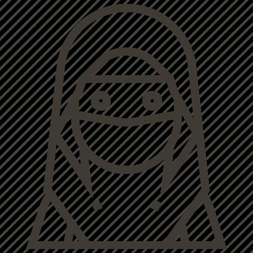avatar, girl, niqab, woman icon