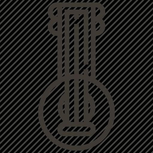 instrument, music, sitar icon