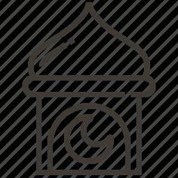 architecture, building, landmark, moon icon