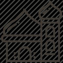 architecture, building, landmark, temple icon