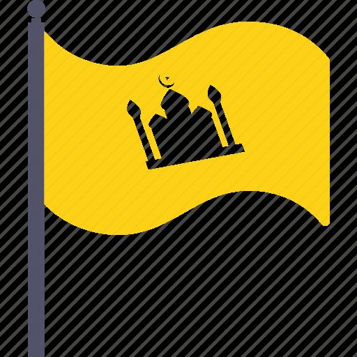 crescent, festival, flag, islam, mosque, ramadan, ramzan icon