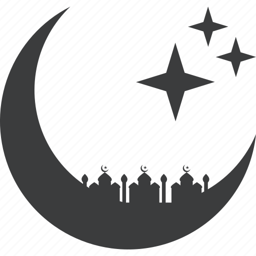 crescent, islam, mosque, prayer, ramadan, ramzan, stars icon